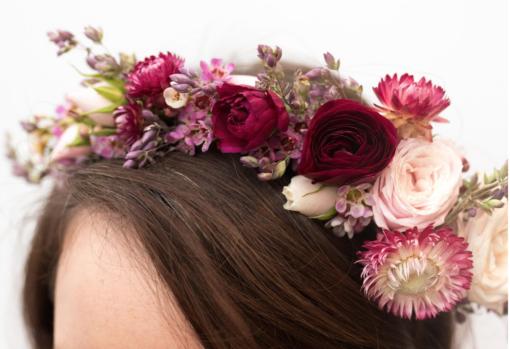 Floral crown wedding